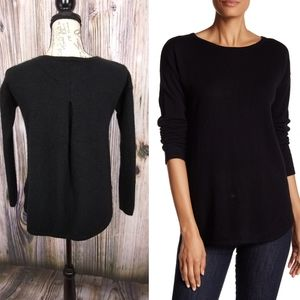 Premise Cashmere Pleated Back Sweater Size Sm
